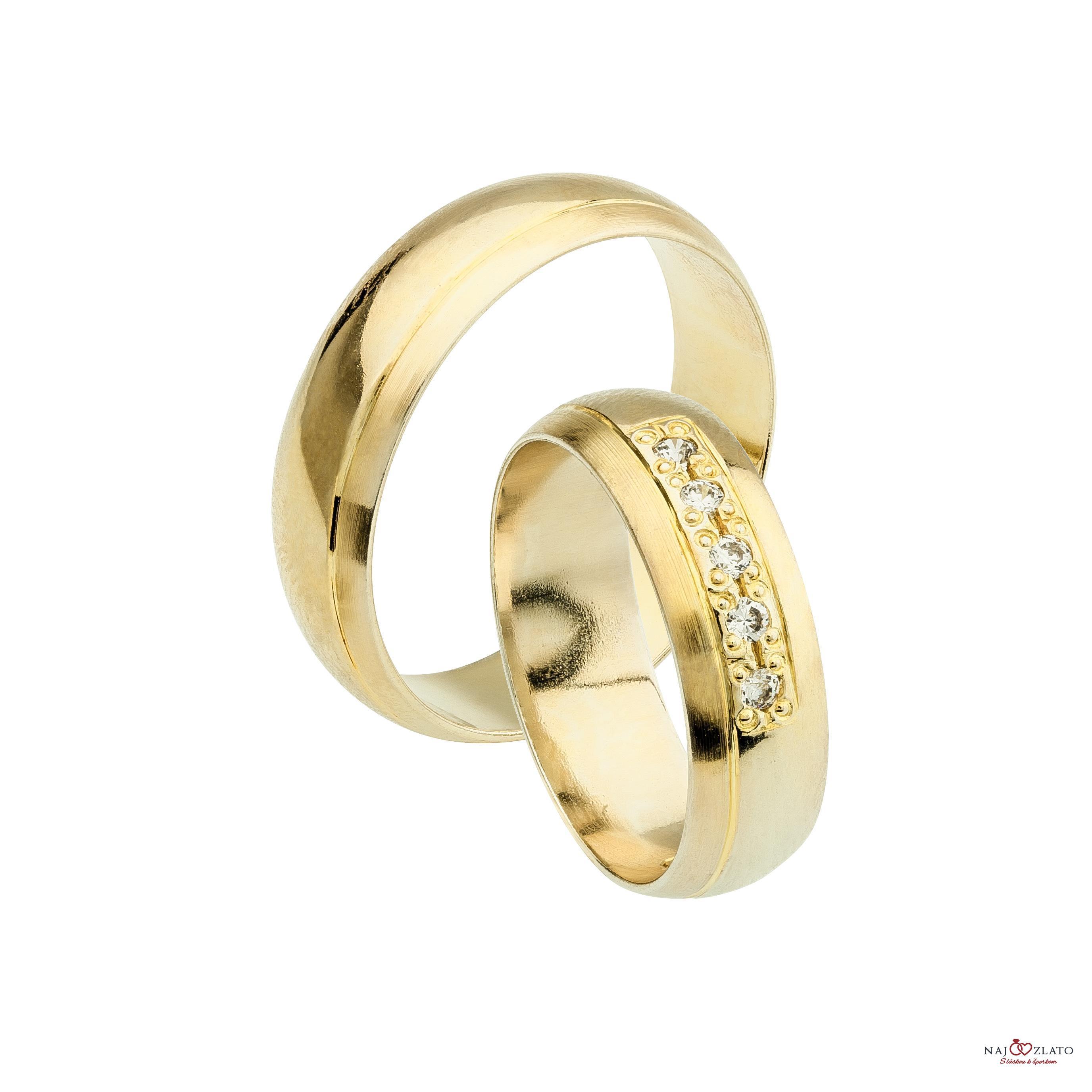 svadobné obrúčky doradus zo žltého zlata ... f25d64de109