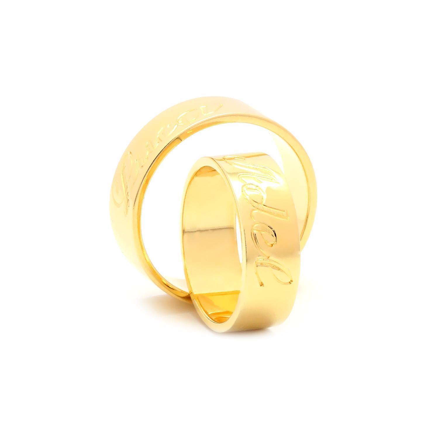 Svadobné obrúčky FLORENTIUS zo žltého zlata