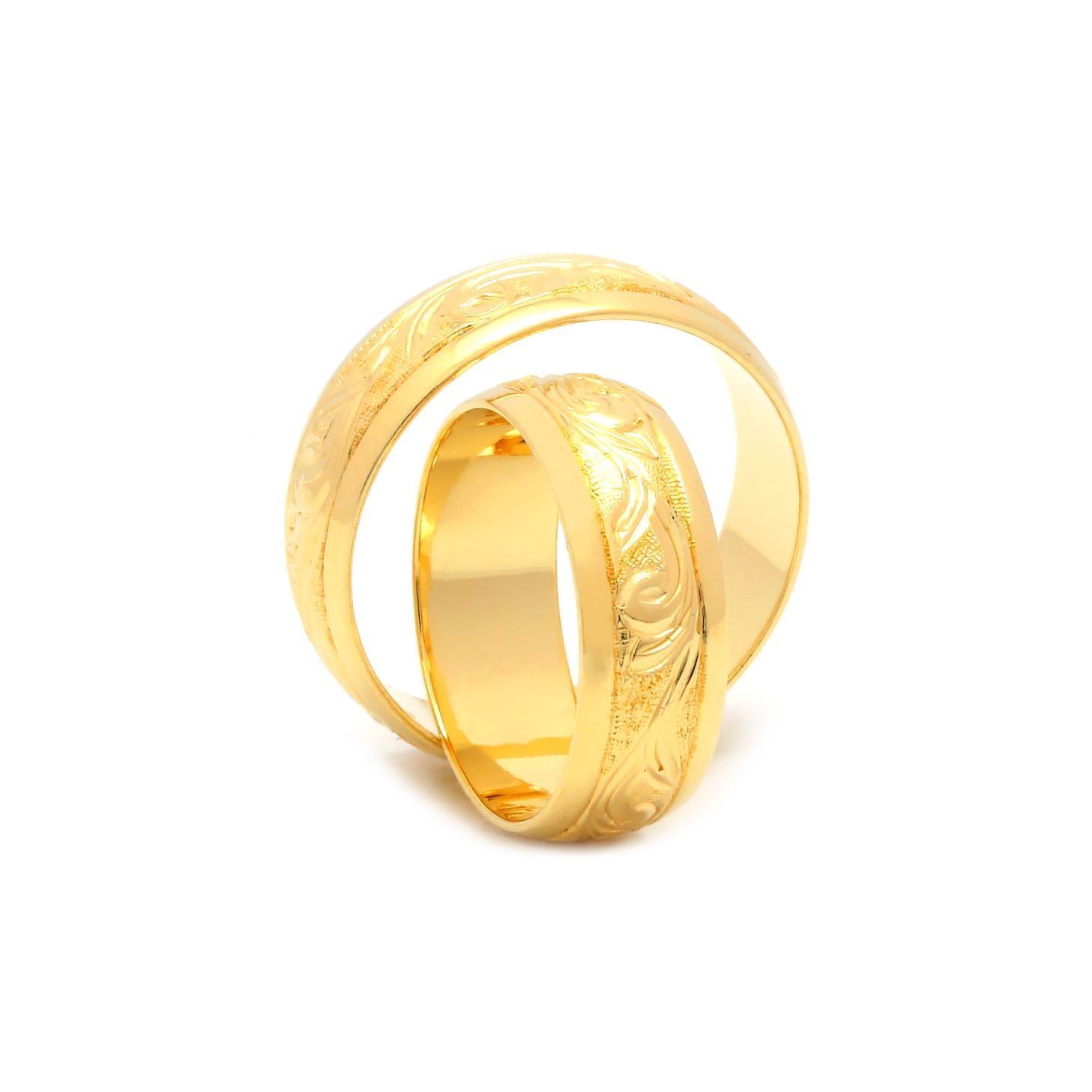 Svadobné obrúčky FLORIAN zo žltého zlata