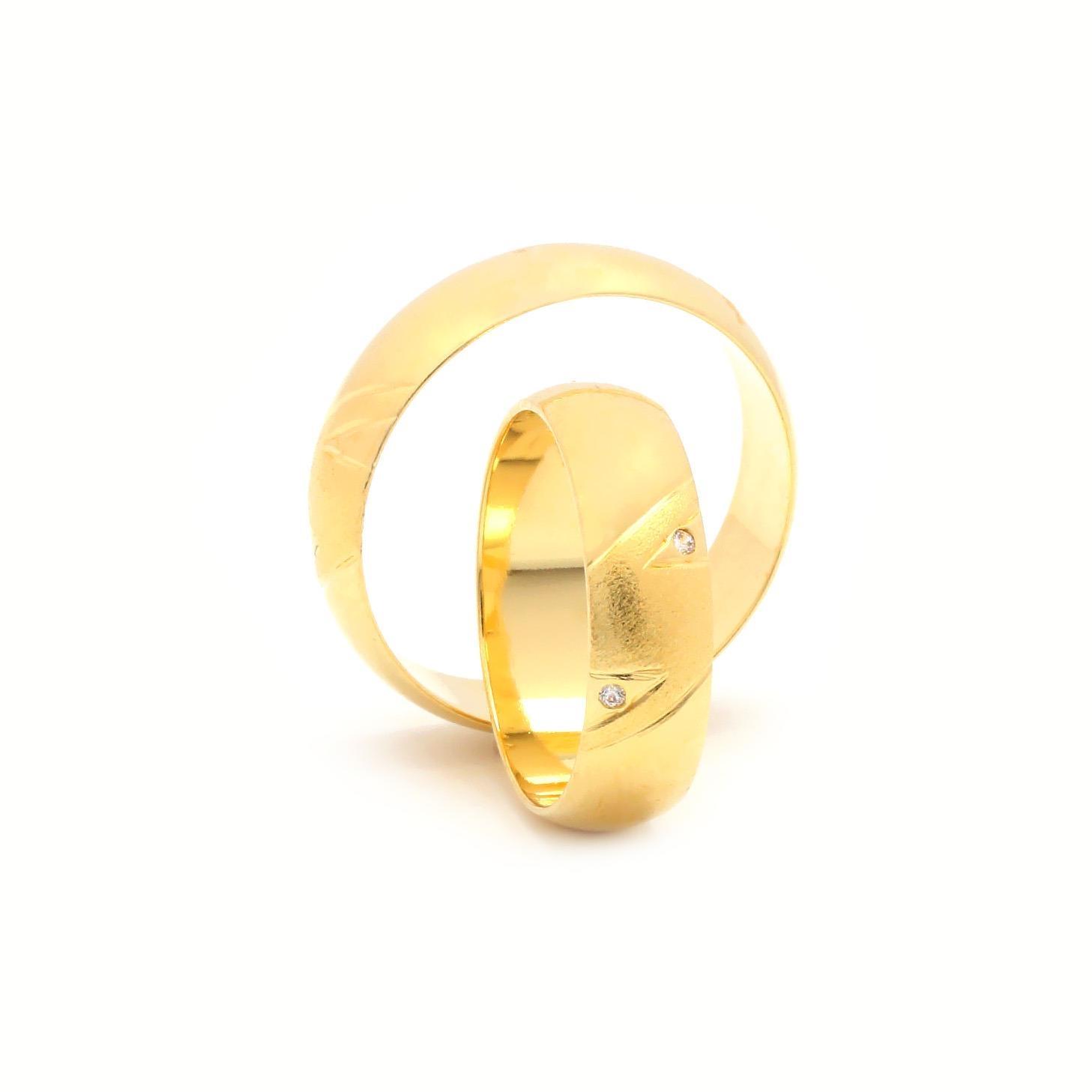 Svadobné obrúčky FLORIANUS zo žltého zlata