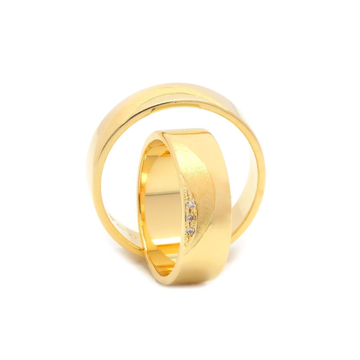 Svadobné obrúčky FLORIN zo žltého zlata