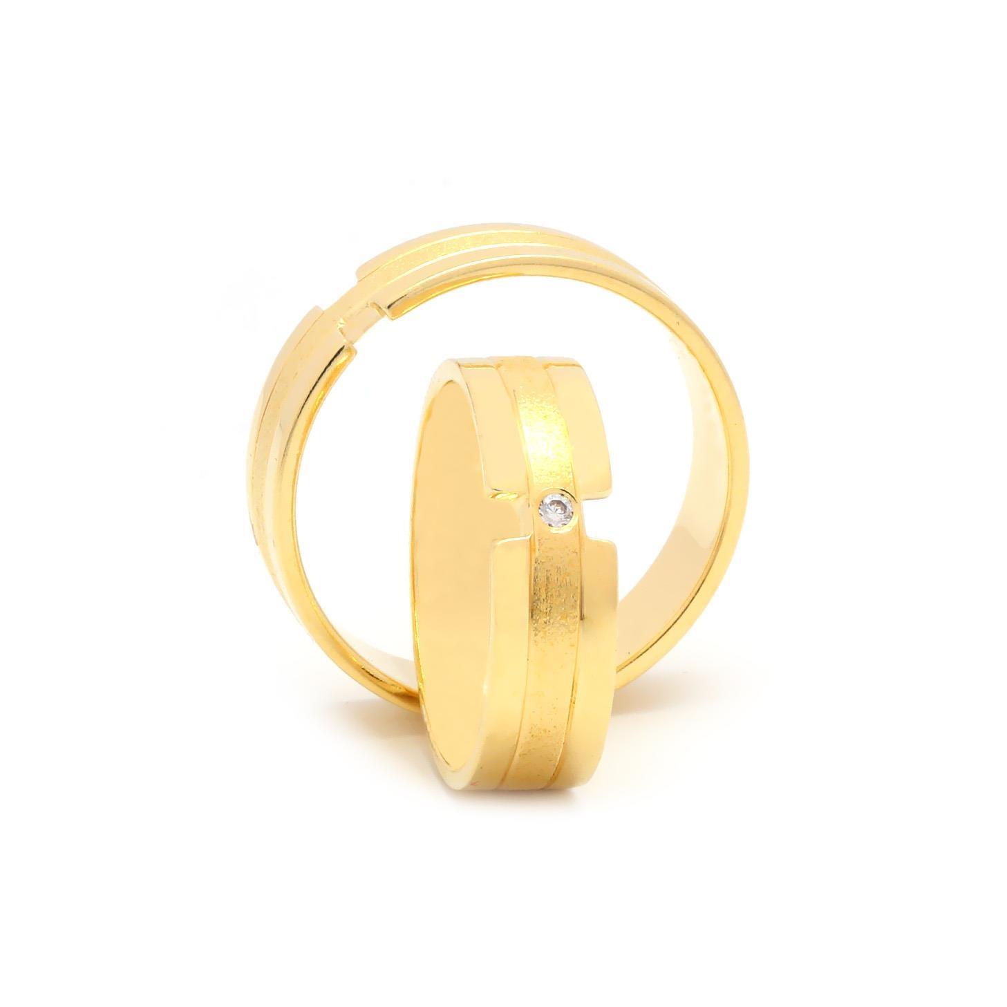 Svadobné obrúčky FLORIS zo žltého zlata
