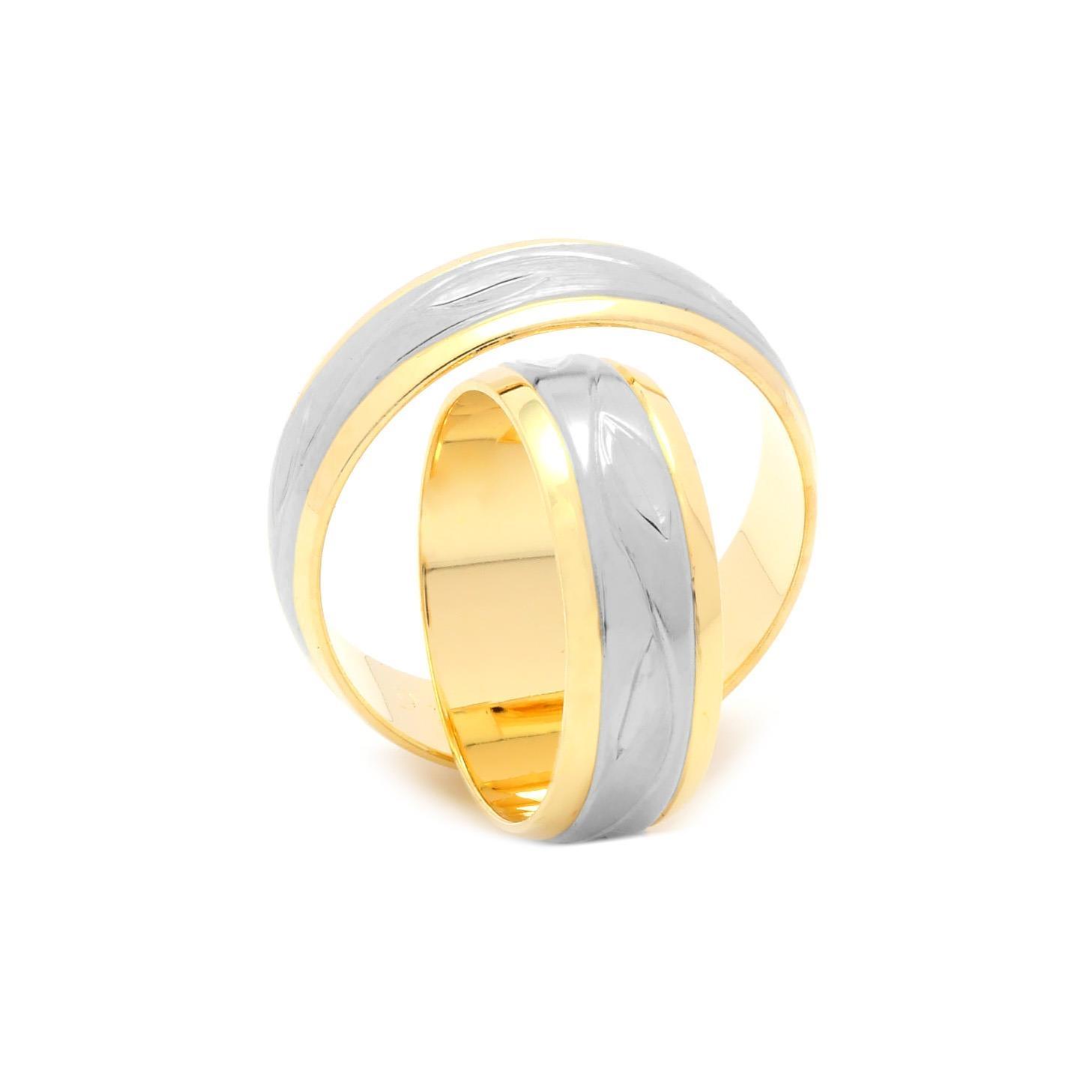 Svadobné obrúčky FLORRIE zo žlto-bieleho zlata