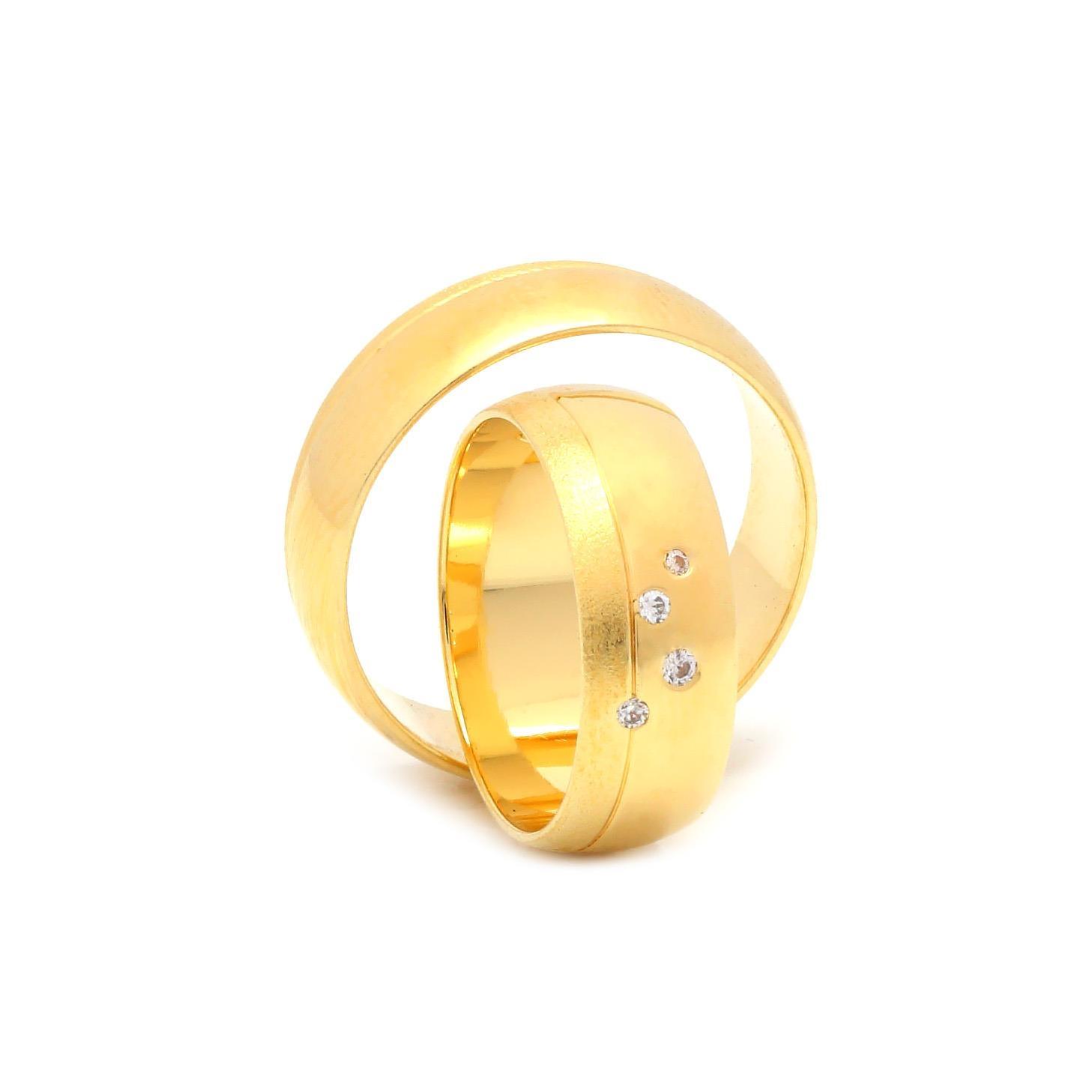 Svadobné obrúčky GARDENIA zo žltého zlata