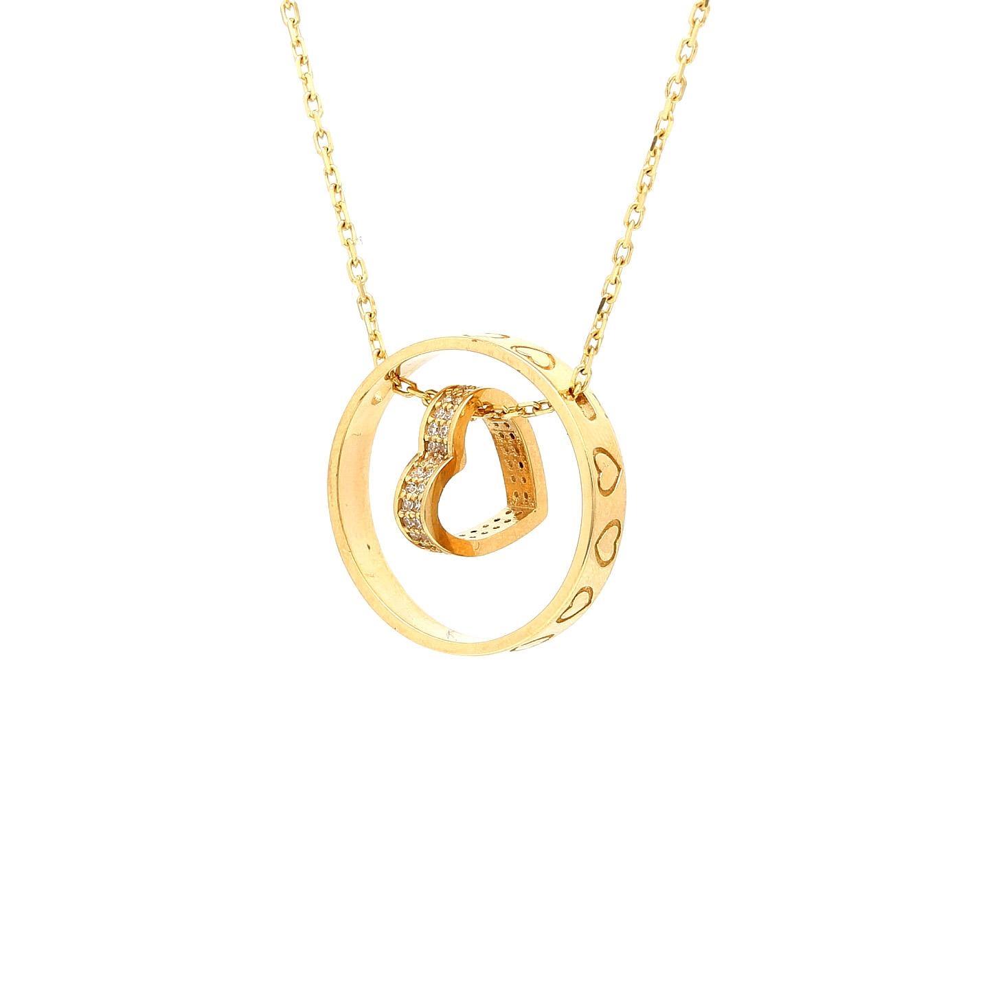 Zlatá retiazka SHIRIN s príveskom 22620846077