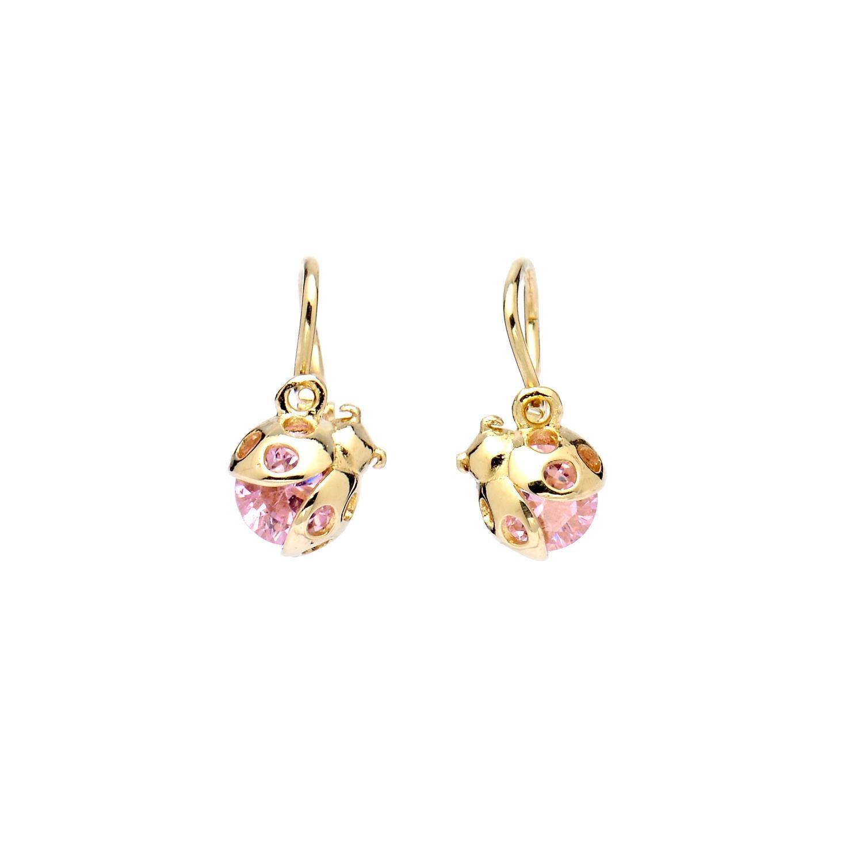 c408581e8 zlaté náušnice ružová lienka zlaté náušnice ružová lienka 1 ...