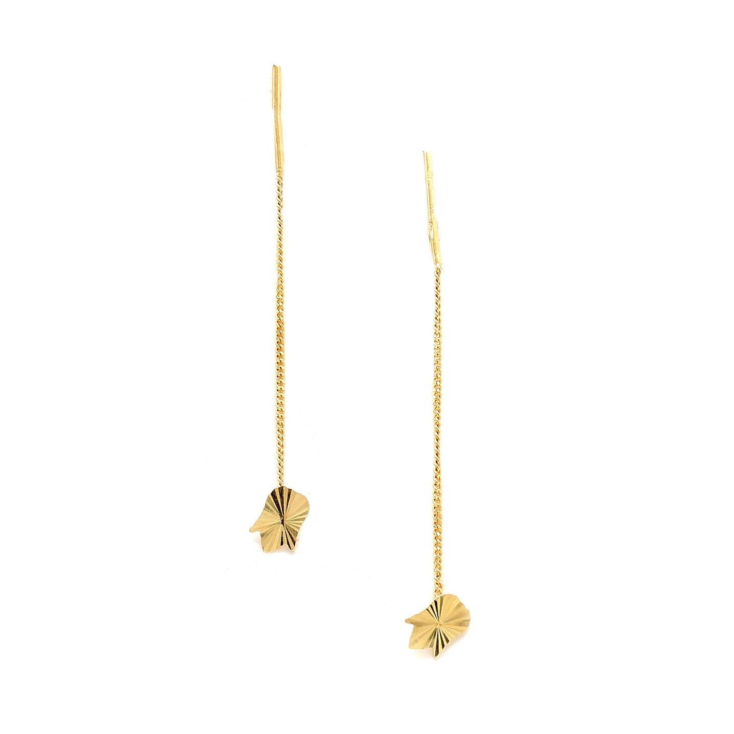 Zlaté náušnice SUNSHINE