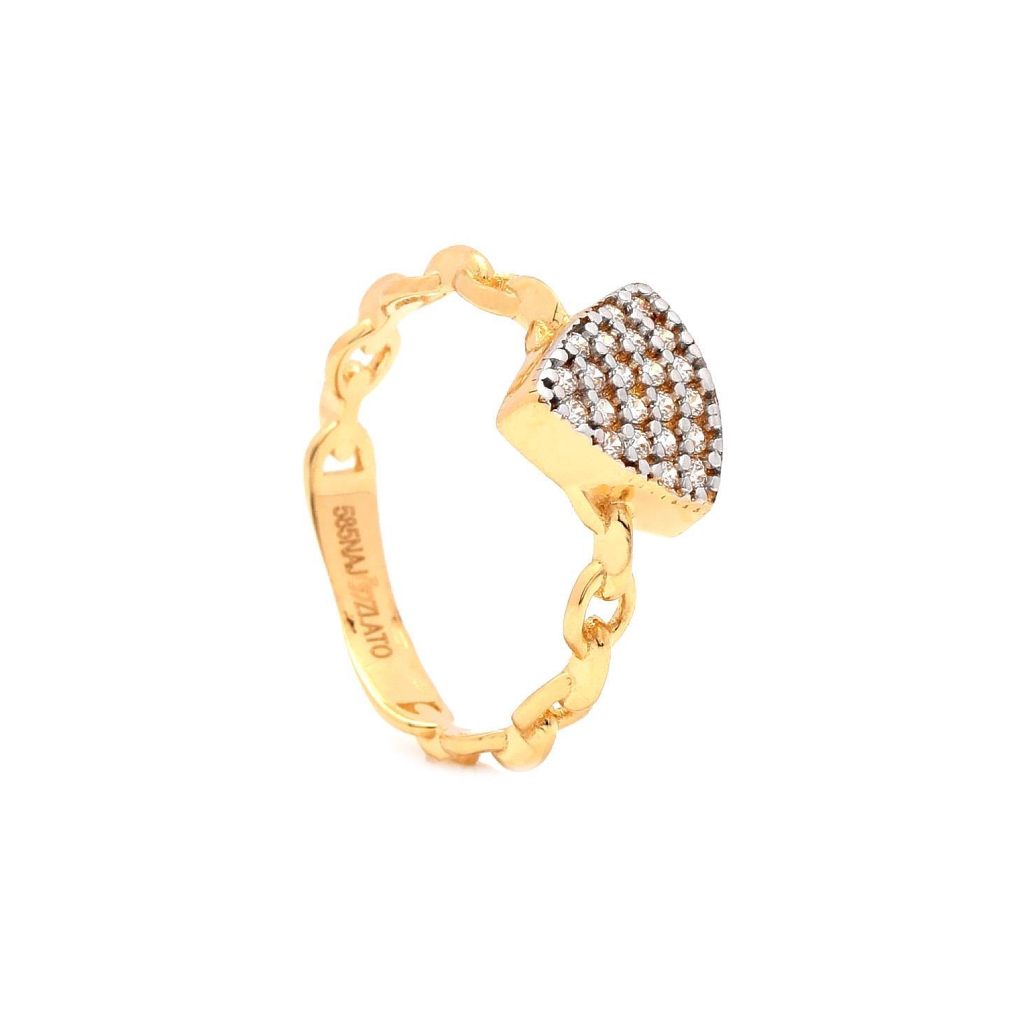 Zlatý dámsky prsteň BAMBER