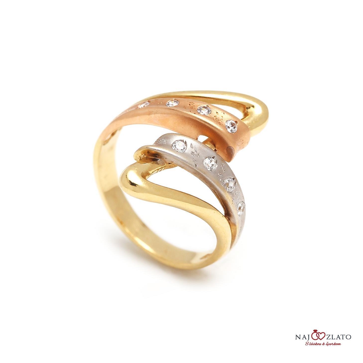 ae4d90104 Zlatý dámsky prsteň DELFINA   Najzlato.sk