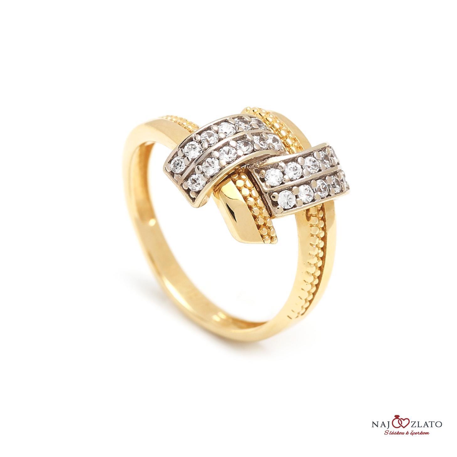 2d997b5f7 Zlatý dámsky prsteň DONATELLA   Najzlato.sk