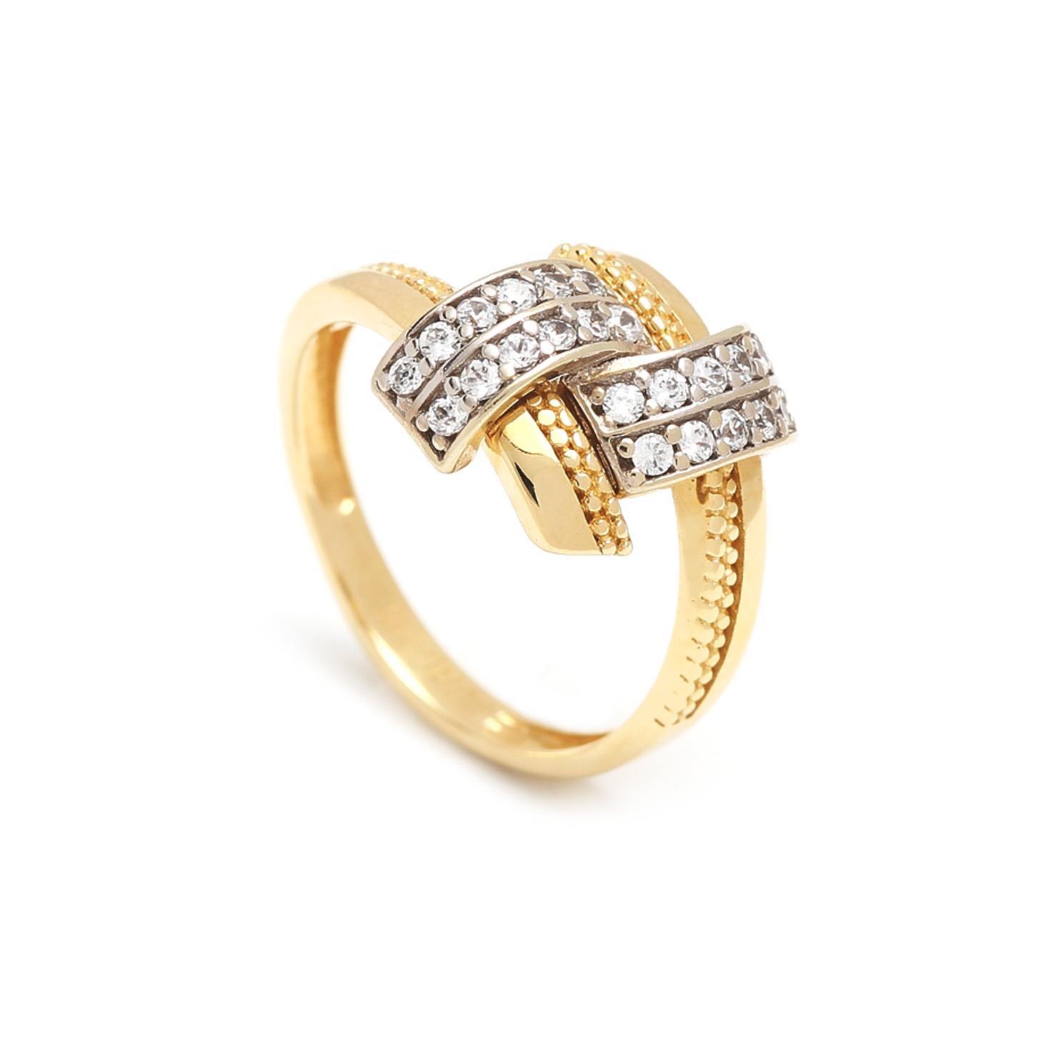 Zlatý dámsky prsteň DONATELLA