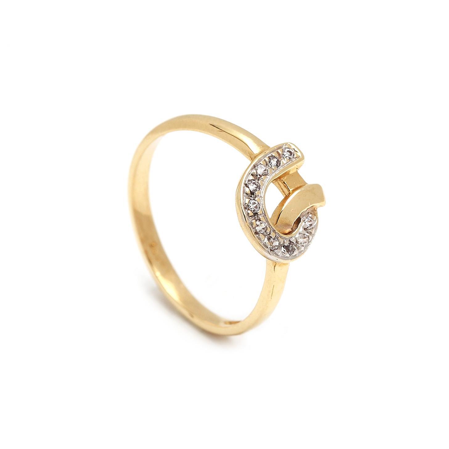 Zlatý dámsky prsteň ERMINIA