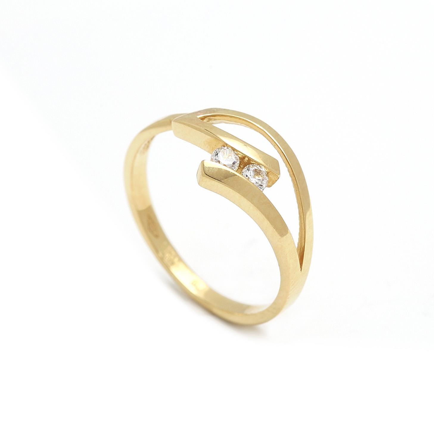 Zlatý dámsky prsteň FRANCA
