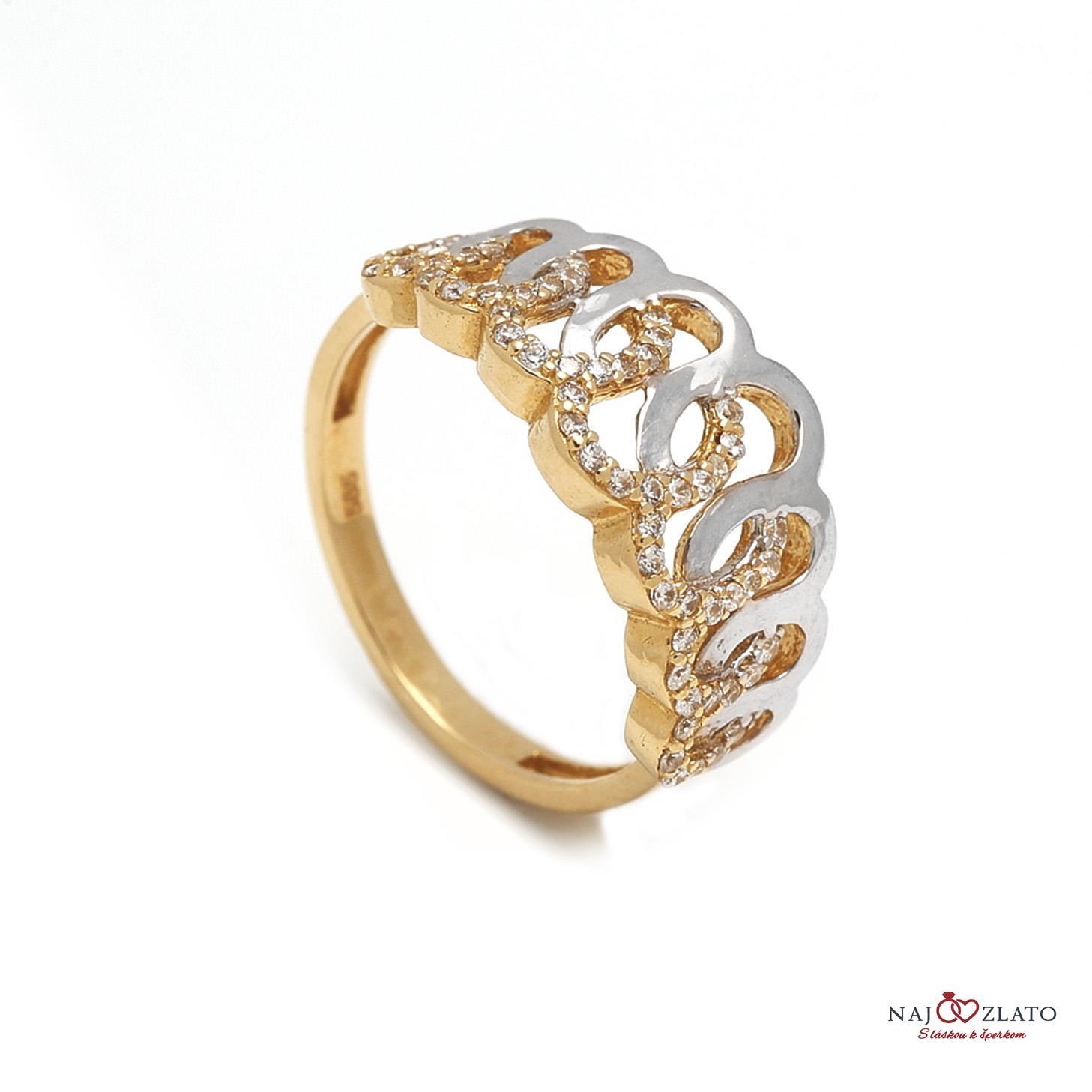 979e4aed7 Zlatý dámsky prsteň GIACHETTA   Najzlato.sk