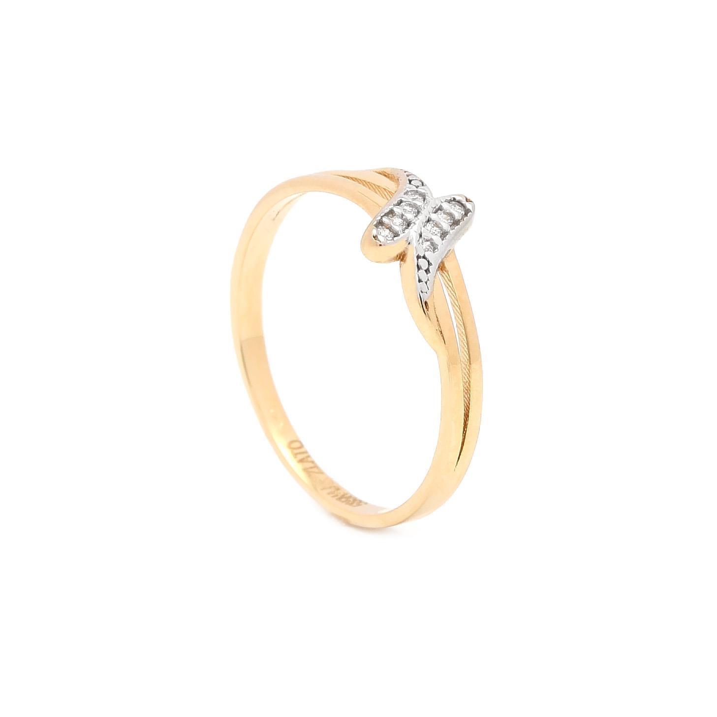 Zlatý dámsky prsteň KESHET