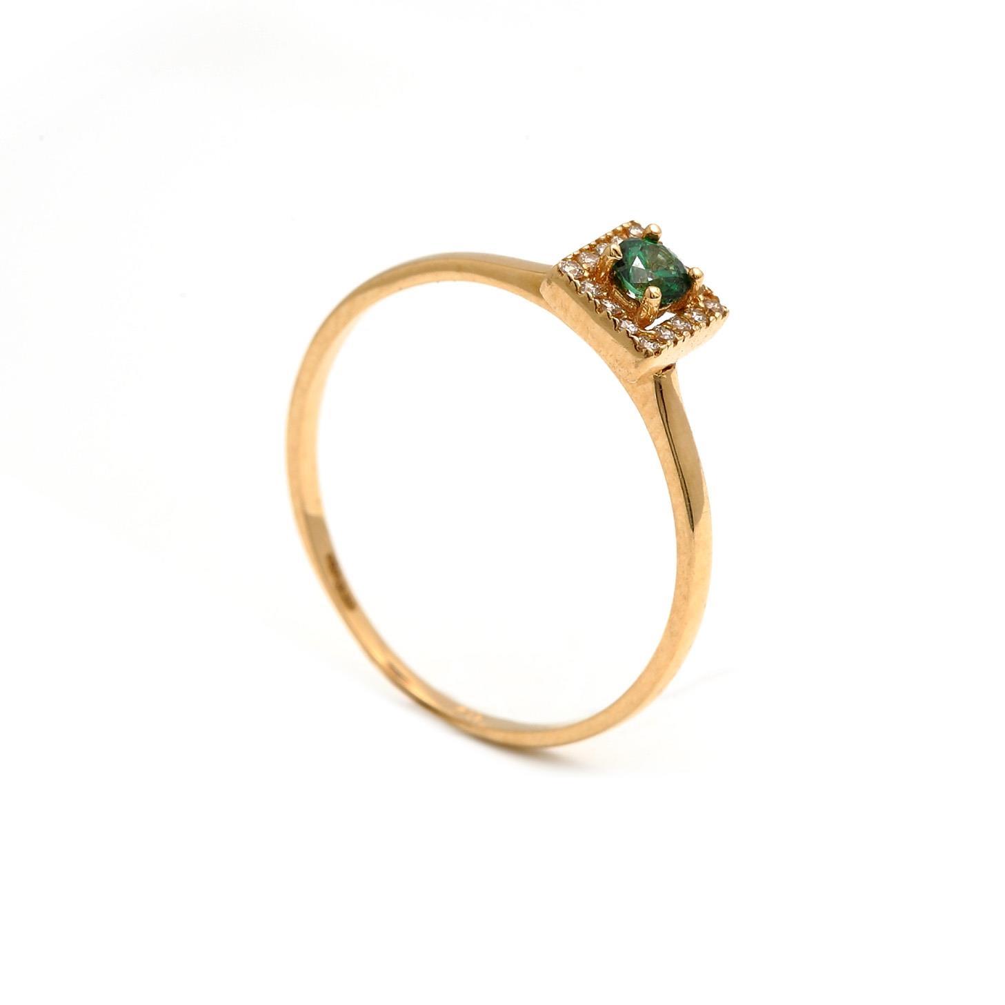 Zlatý dámsky prsteň SAMANTA green
