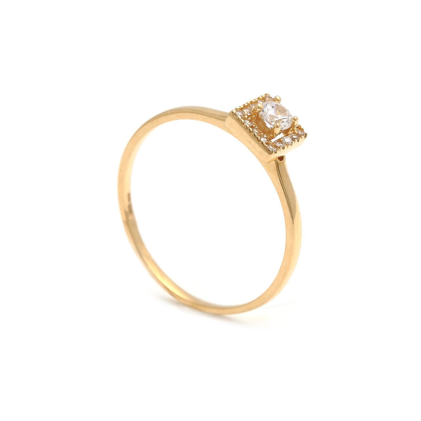Zlatý dámsky prsteň SAMANTA white