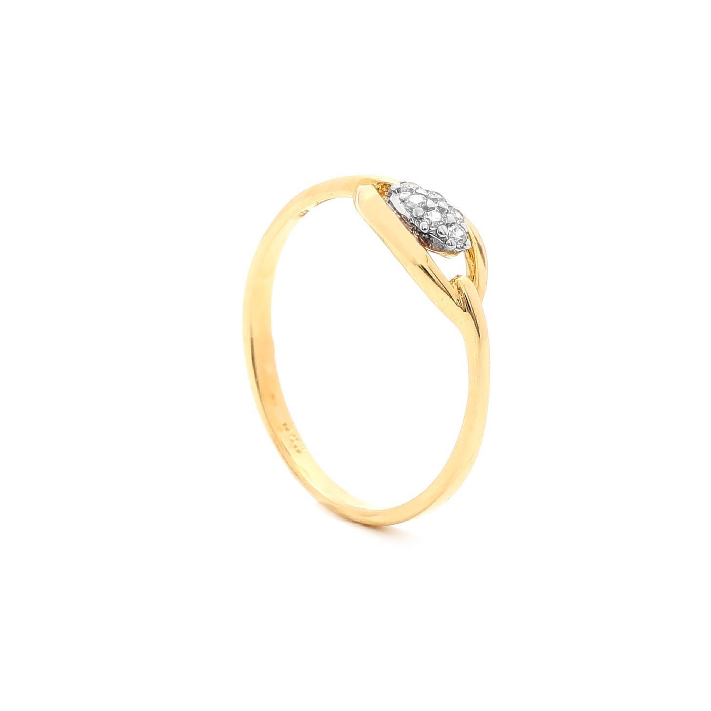 Zlatý dámsky prsteň TARREN