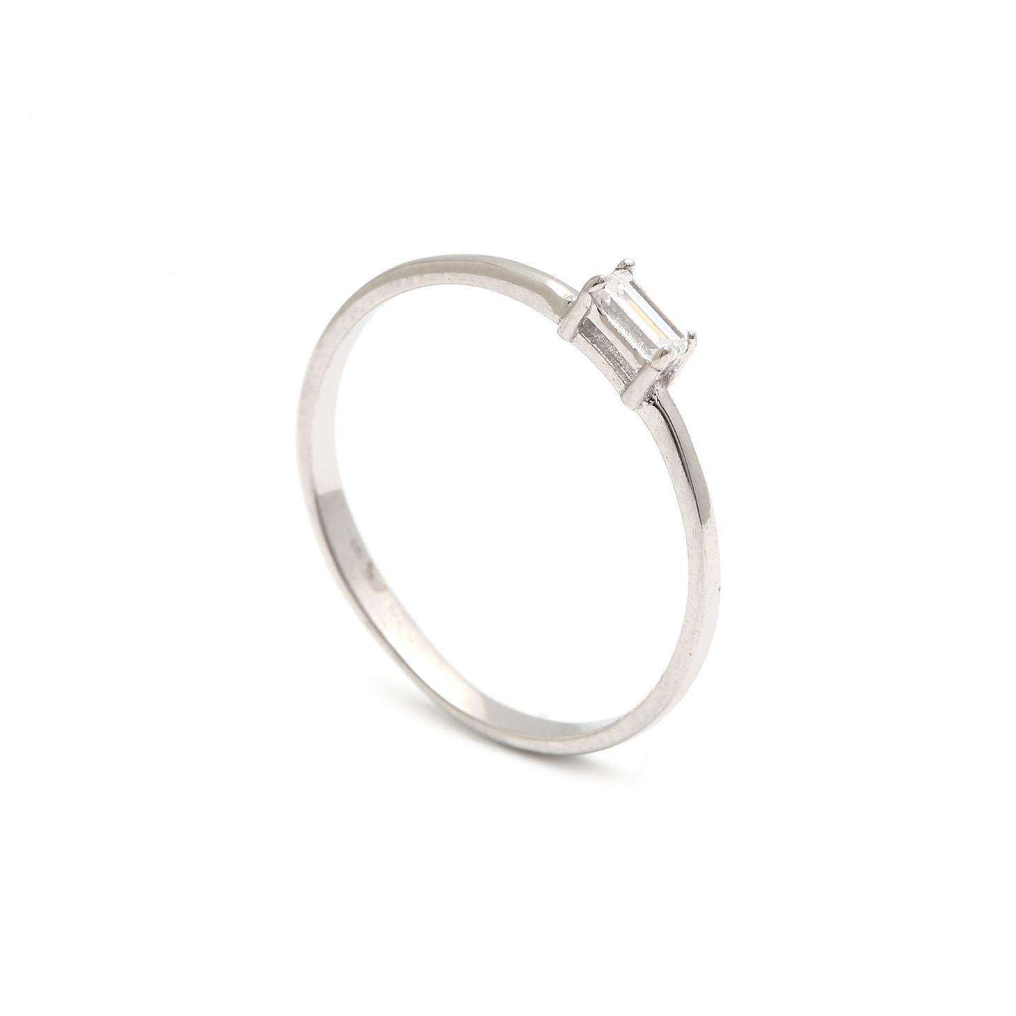 Zlatý dámsky prsteň ZOSIME white