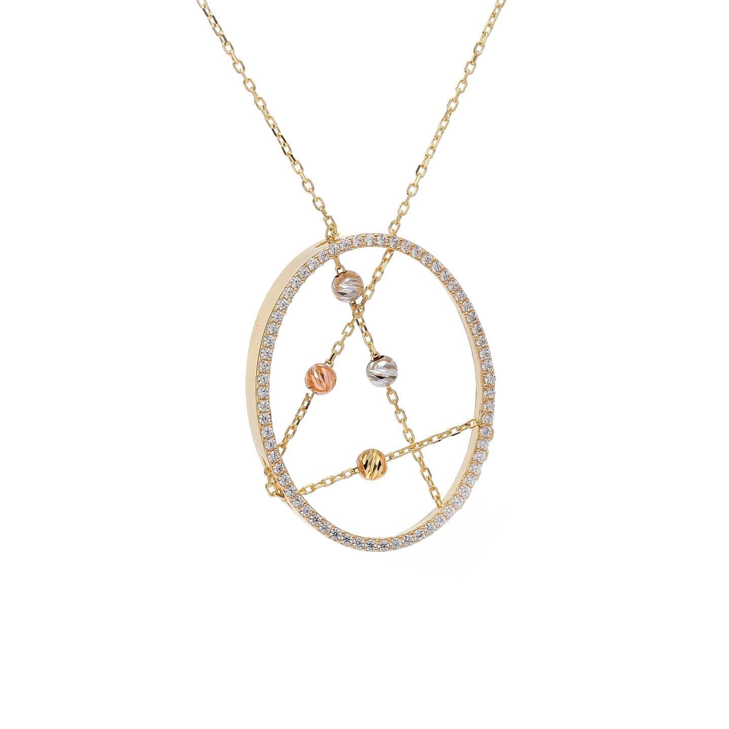 Zlatý náhrdelník ABELE
