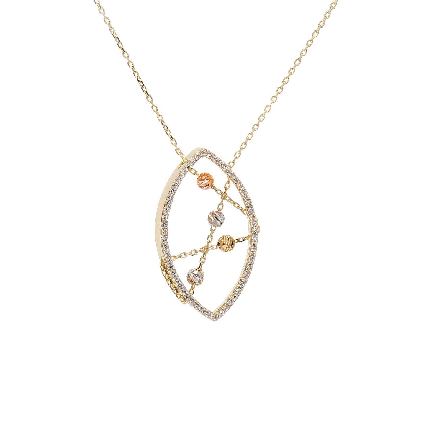 Zlatý náhrdelník ABRAMO