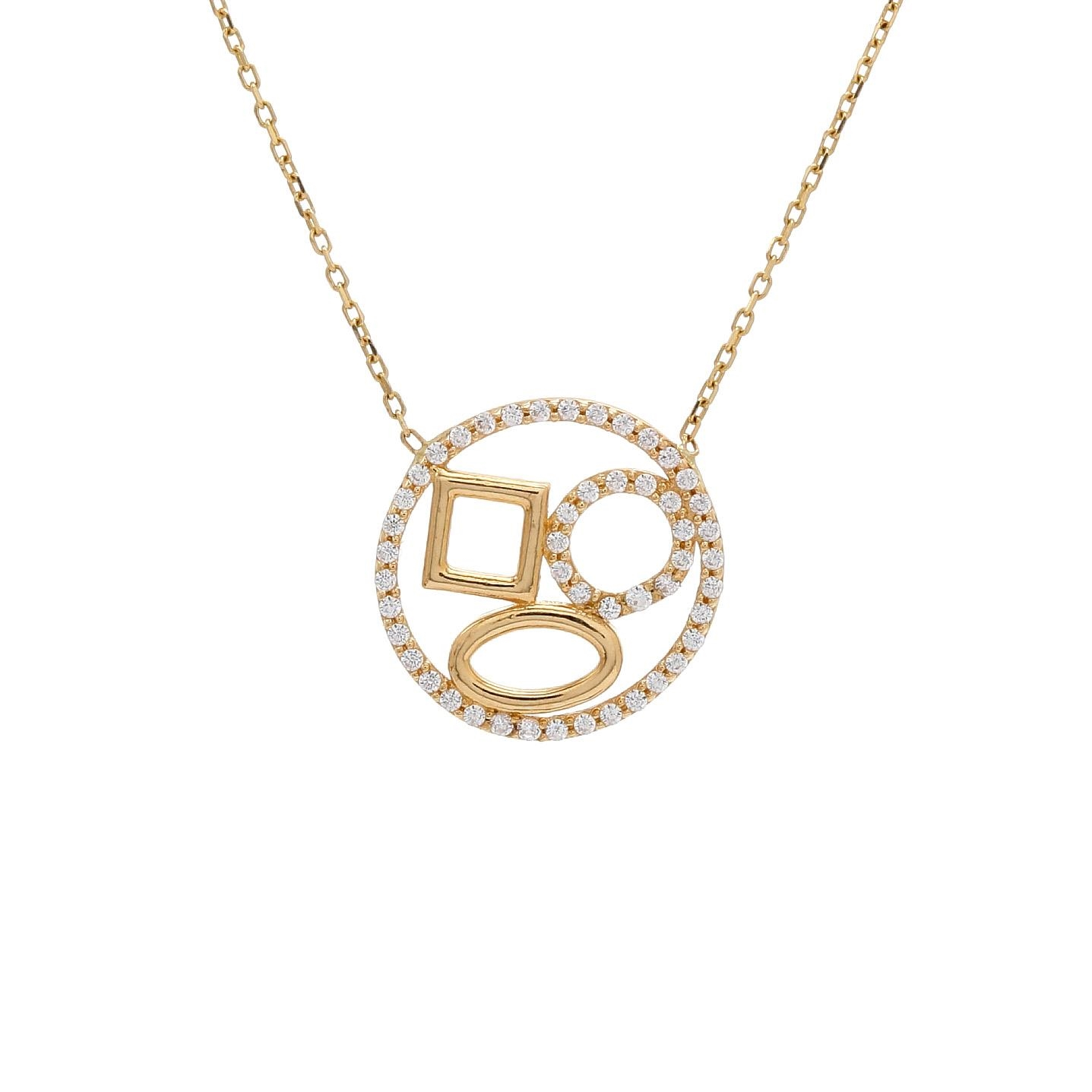 Zlatý náhrdelník ENFYS