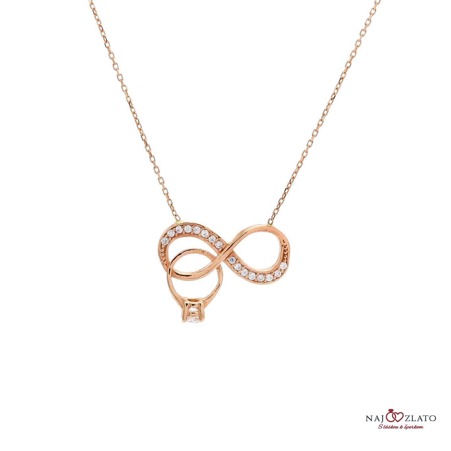 zlatý náhrdelník nekonečno s prsteňom ... 9c7793341f7