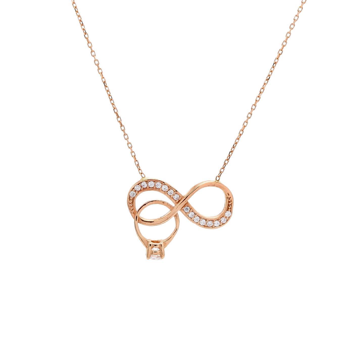 Zlatý náhrdelník NEKONEČNO s prsteňom