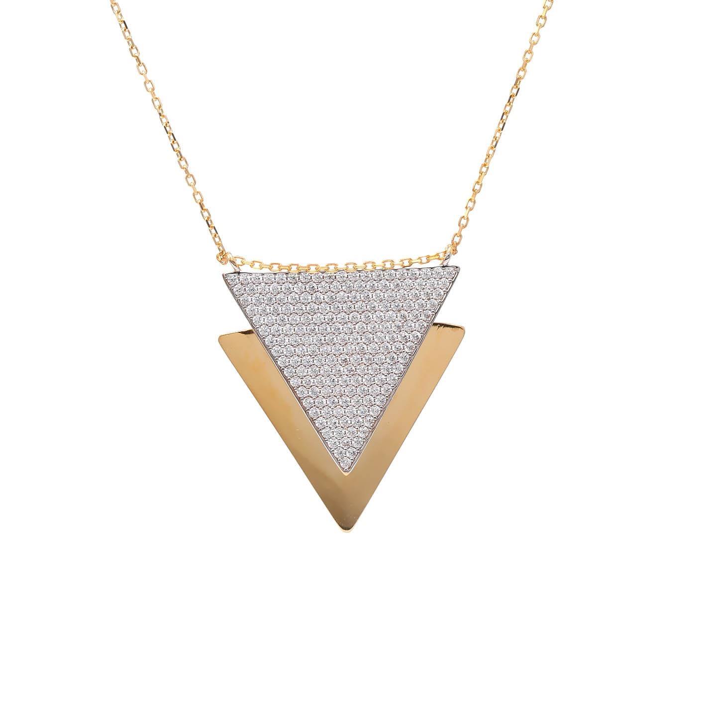 Zlatý náhrdelník TRIANGLE