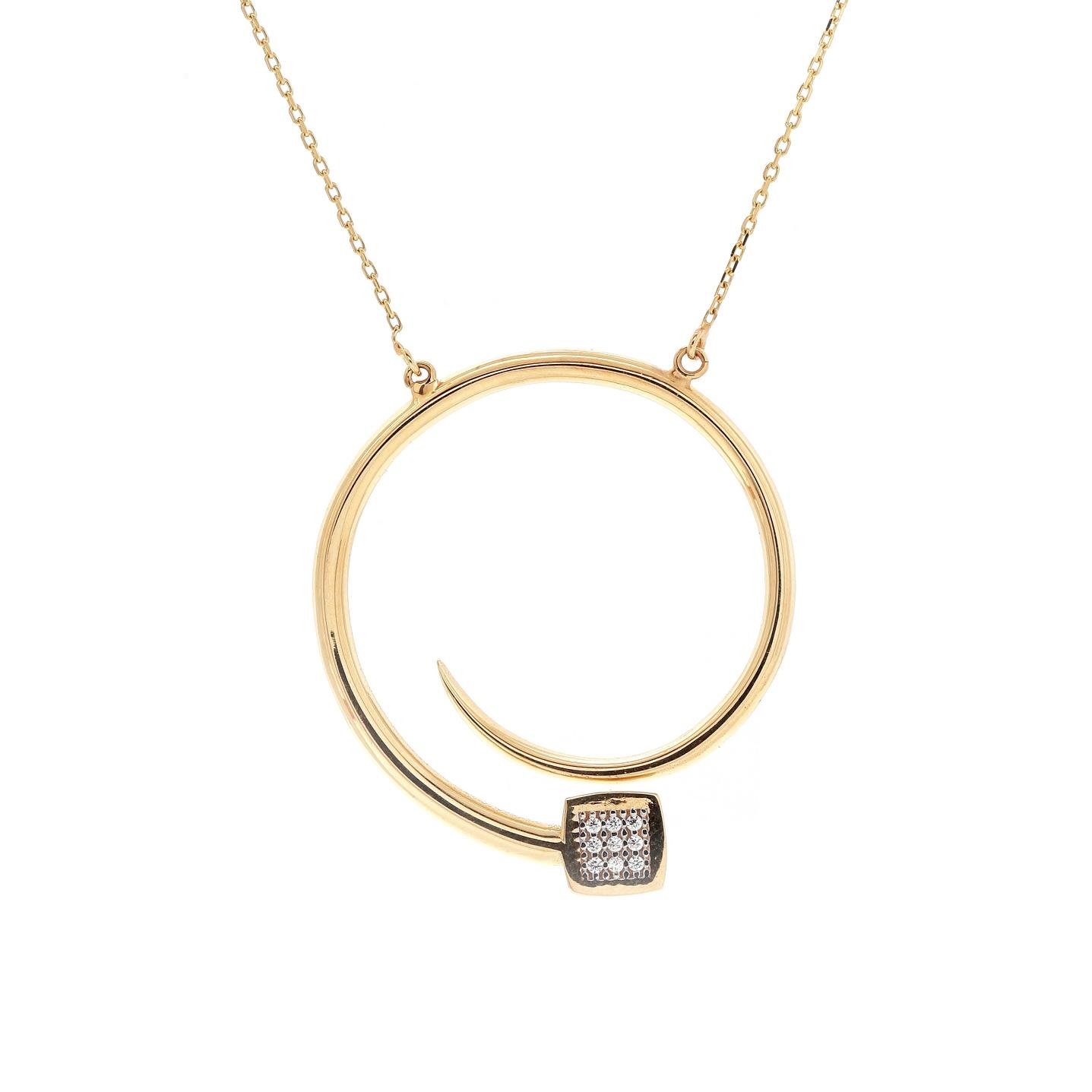 Zlatý náhrdelník ZAMIRA