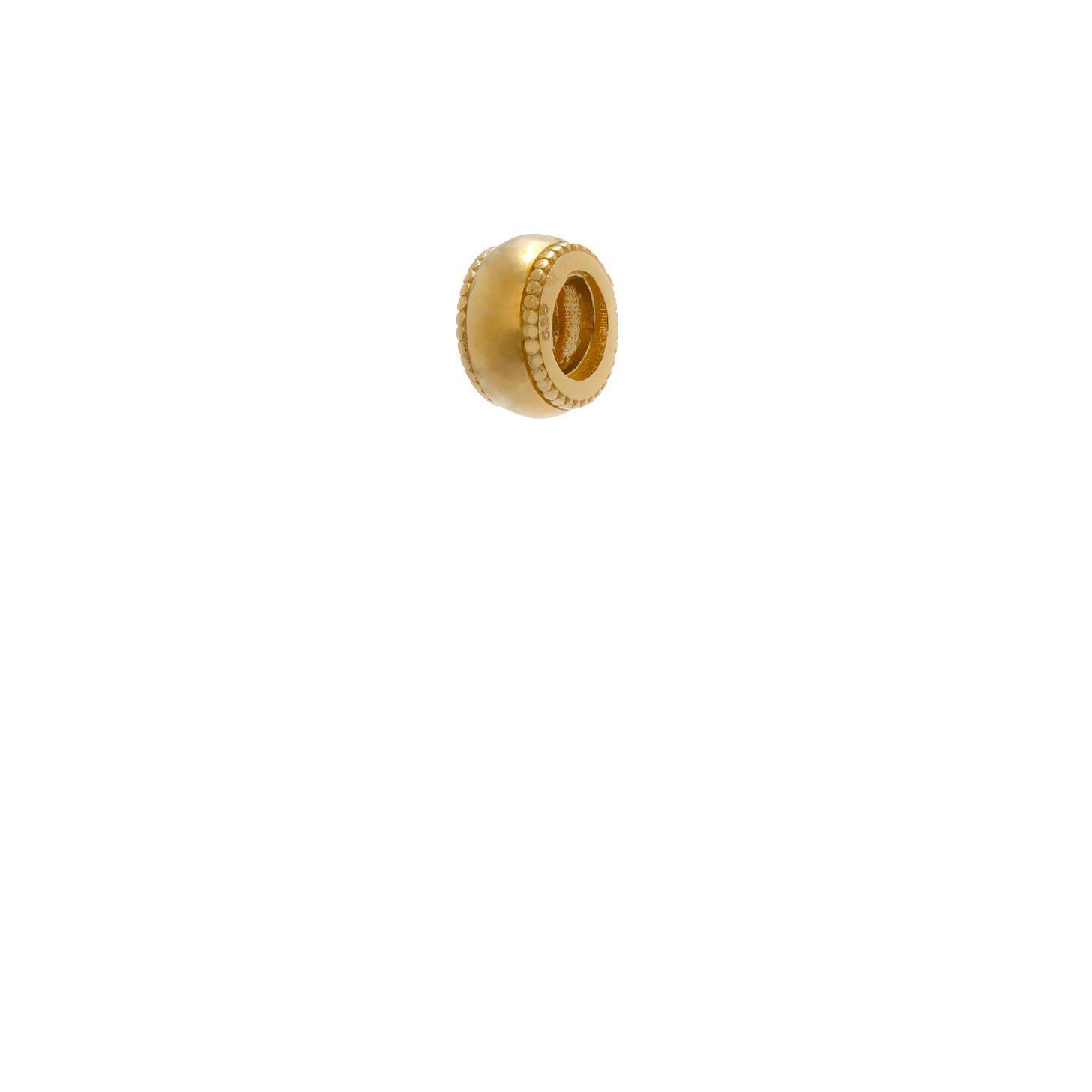 Zlatý prívesok FLORA - korálka zo žltého zlata