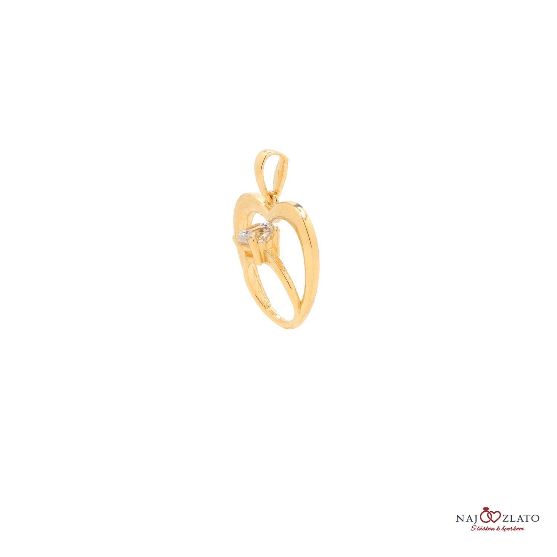 30eb5cb4a zlatý prívesok prsteň v srdci zlatý prívesok prsteň v srdci 1 ...