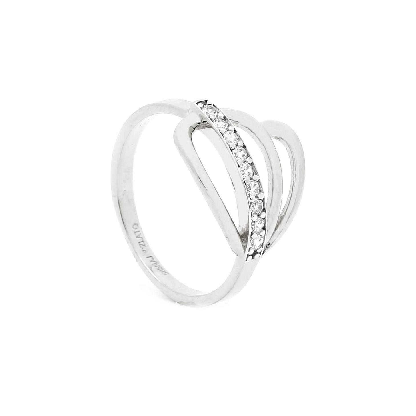 Zlatý prsteň SOFINIA white