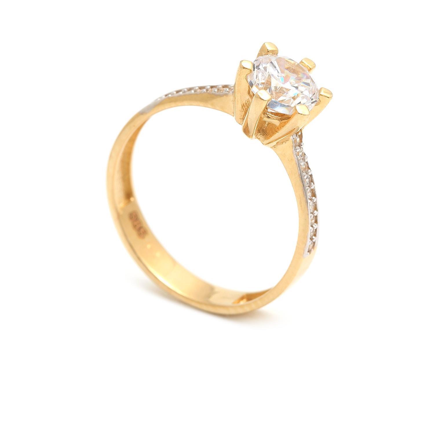 Zlatý zásnubný prsteň AZUCENA  4b0bf6758e7