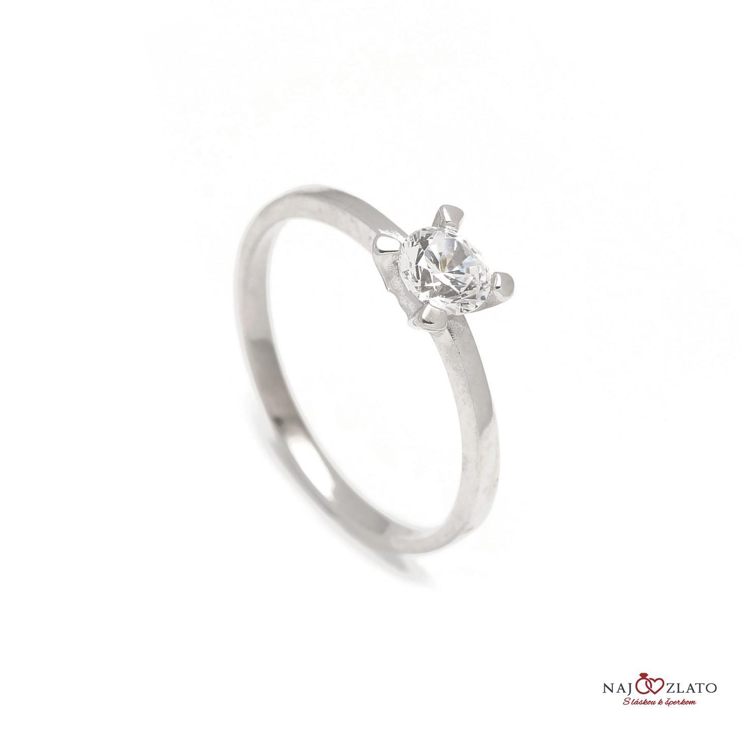 zlatý zásnubný prsteň daisy white ... 242fbeab056
