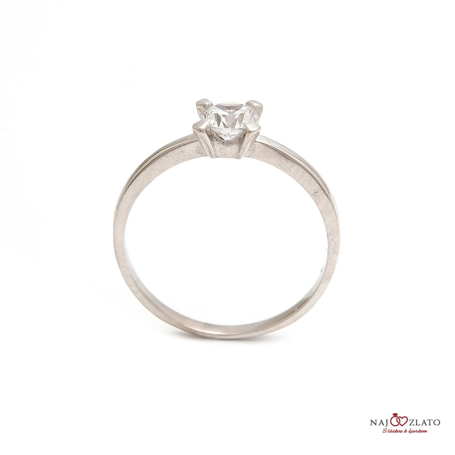 ... zlatý zásnubný prsteň daisy white 2 ... fdb54b2af51