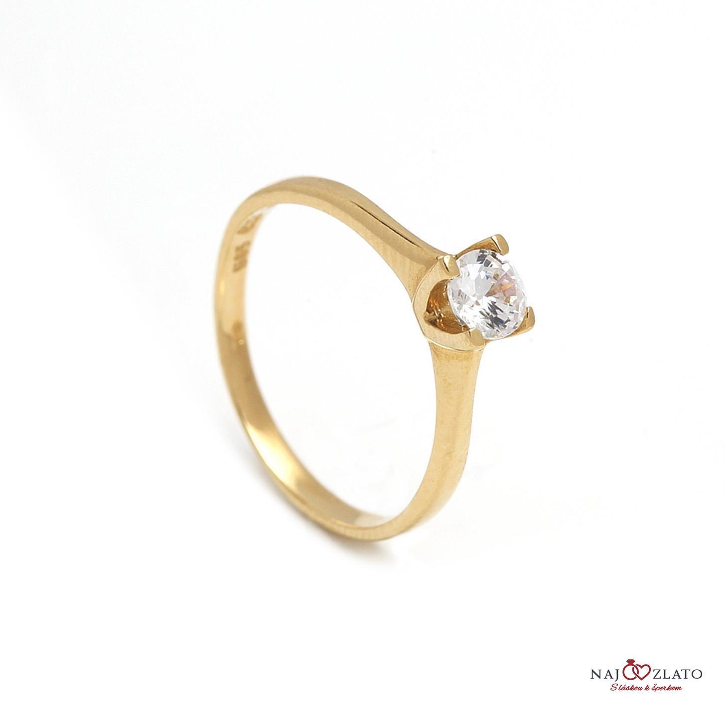 zlatý zásnubný prsteň genevra ... 360b327f9cb