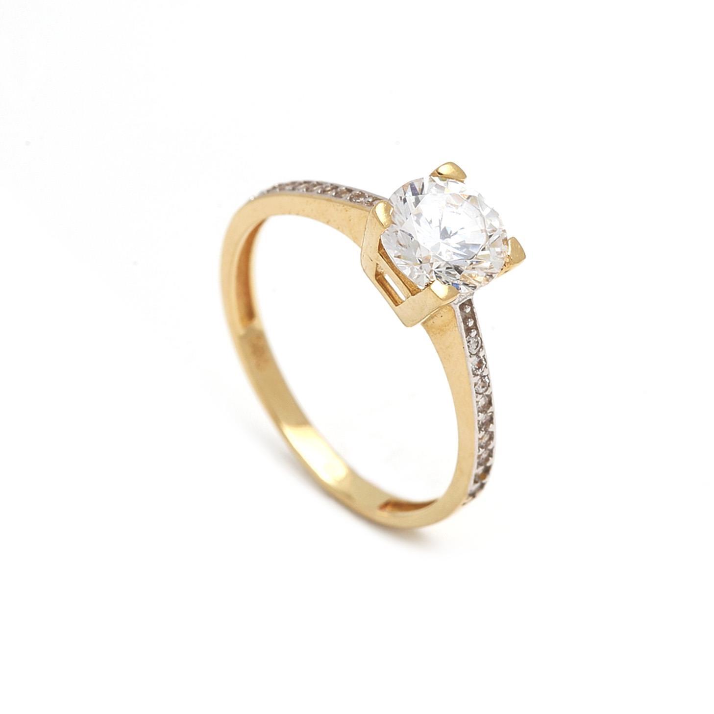 Zlatý zásnubný prsteň GENOVEFFA  cca2bdfe445