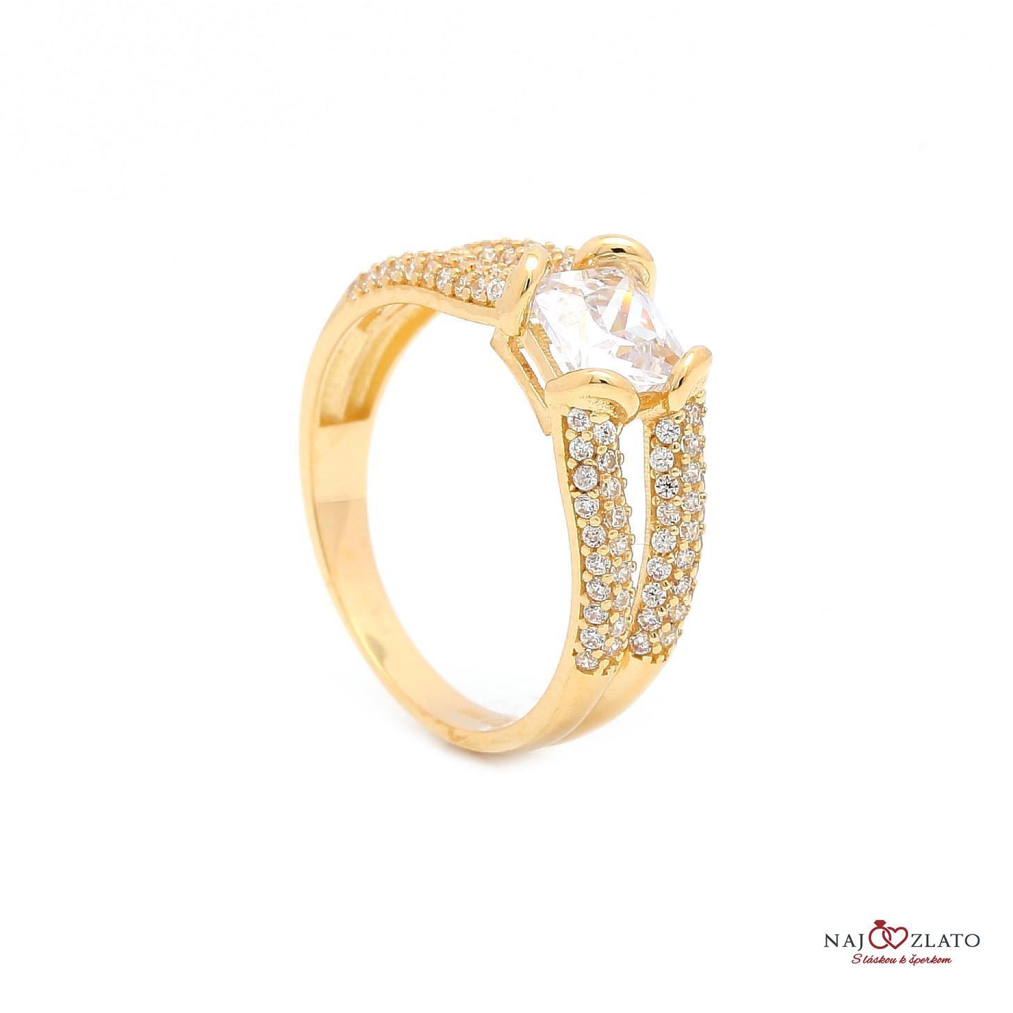 zlatý zásnubný prsteň marijana ... d9ca7ba508d