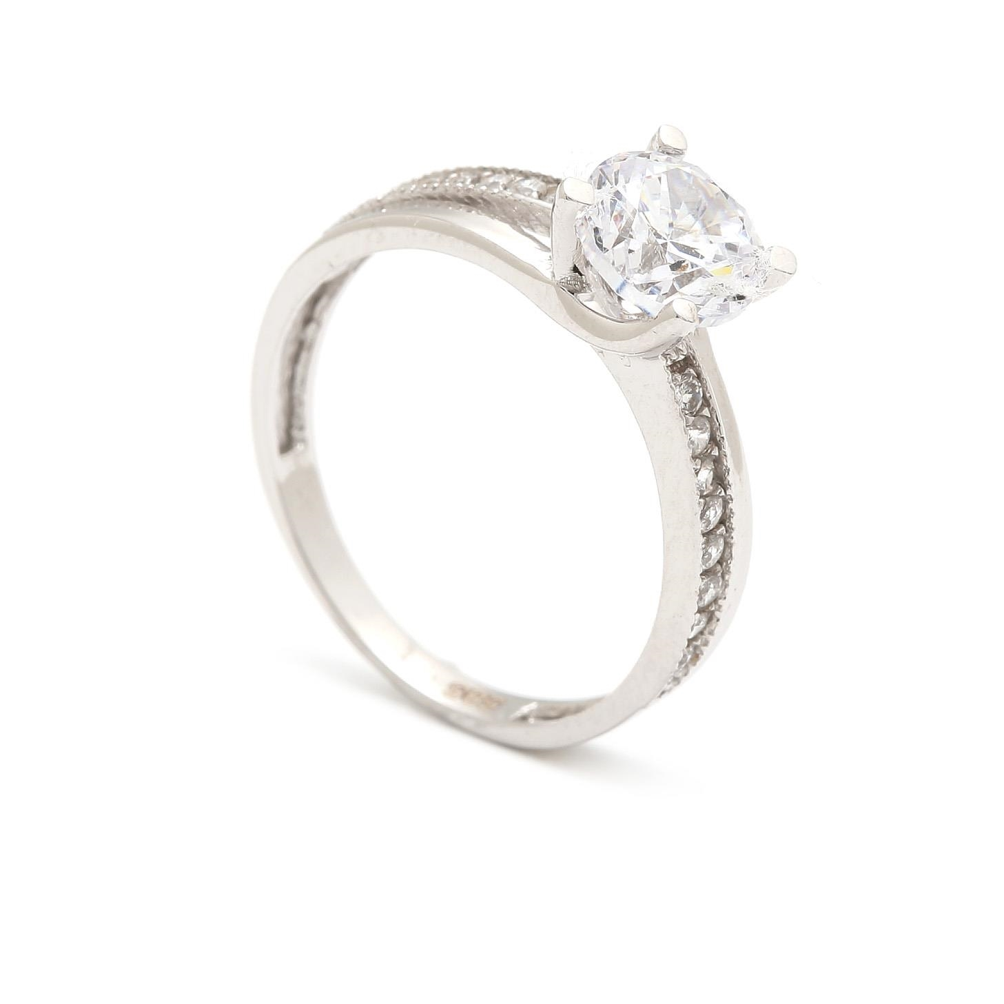 Zlatý zásnubný prsteň RUTA white  30ec4994171