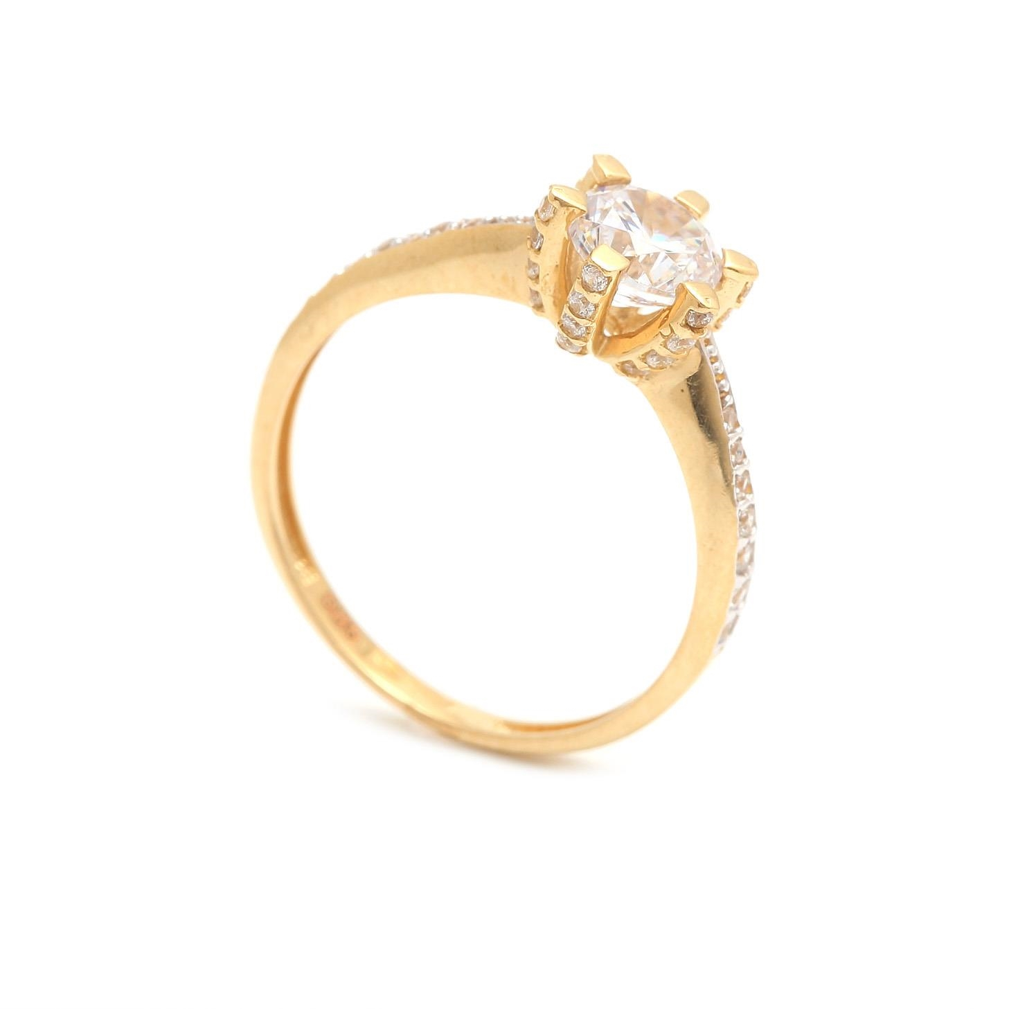 Zlatý zásnubný prsteň WISIA  77433ea05a8