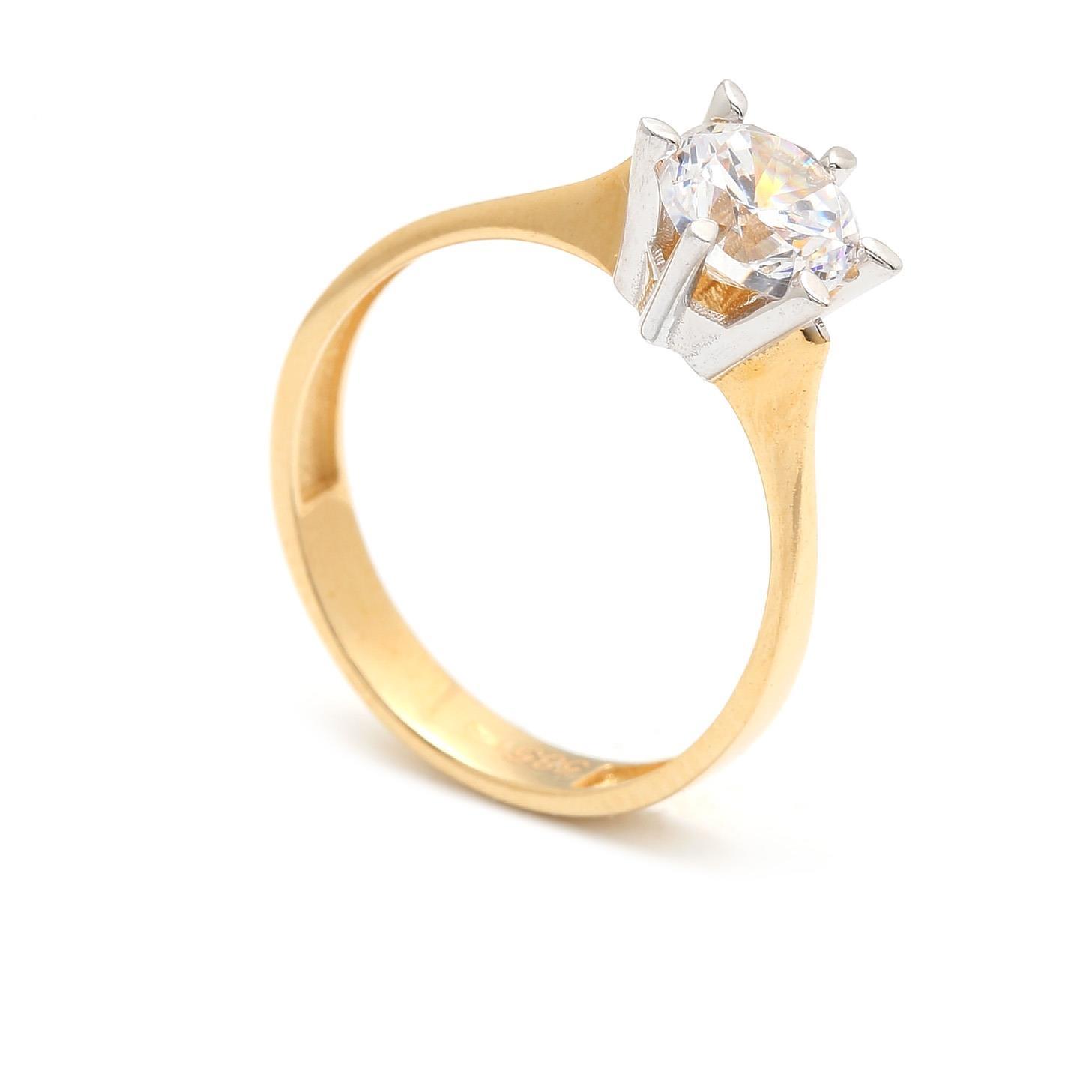 Zlatý zásnubný prsteň XIMENA  e28c0c004bf